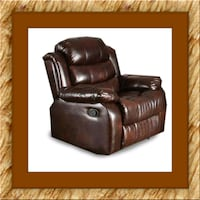 Burgundy recliner chair free delivery District Heights, 20747