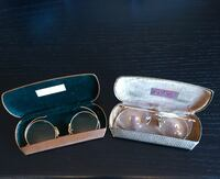 VINTAGE EYE GLASSES 1921 and 1950 with Leather Case! Soddy Daisy, 37379