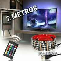tira LED 2 metros RGB USB TV Madrid, 28029