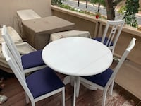 White Dining room table with 4 chairs COSTAMESA
