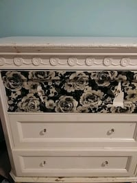 Dresser solid wood white as is  West Springfield, 22152