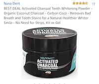 Activated charcoal teeth whitening powder new Colorado Springs, 80909