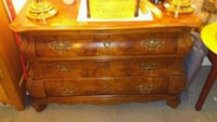brown wooden 3-drawer chest Vancouver