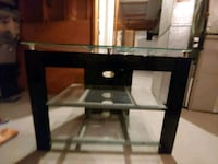 black wooden framed glass top table Red Deer, T4P 3B1