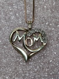 MOM Mother's Day pendant on chain Ralph Lauren Joplin, 64804