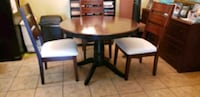 "48"" Round pedestal table  3 Chairs."