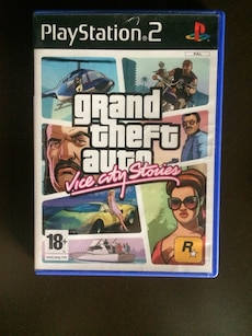 PS2 Grand Theft Auto Vice City Stories game case