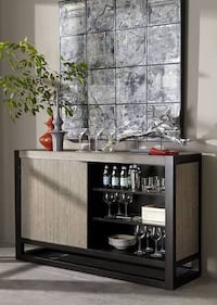 Beautiful new credenza with sliding door and lights only 500$!!! Original price 1,351$!!! San Leandro, 94577