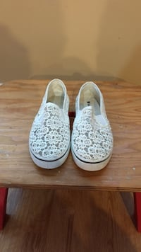 Women's white-and-gray floral slip-on shoes Langley, V1M