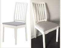 Dining chair ( ikea ), White and grey Montréal