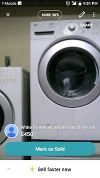 white Samsung front-load clothes washer Mission, 78572