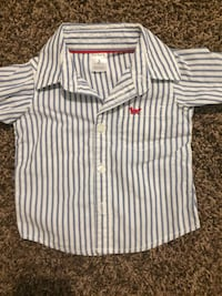 White and gray stripe polo size 3months Youngstown, 44509