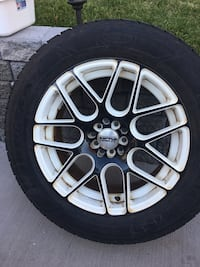 4 Goodyear ultra grip ice winter tires on custom alloy rims Kitchener, N2P 1P7