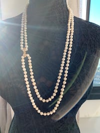 Gorgeous double necklace a real pearls