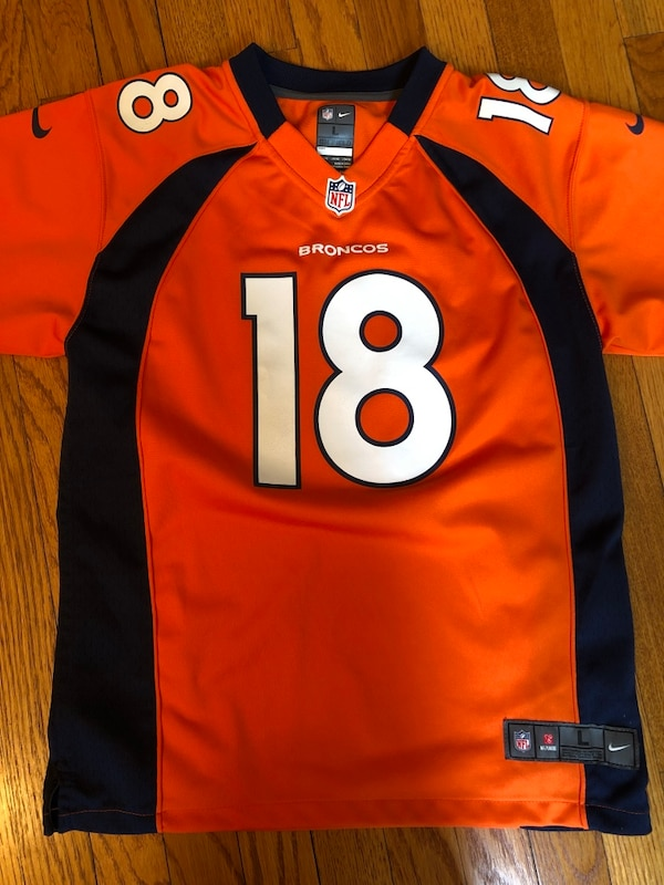 sale retailer 51d13 04542 Denver Broncos Peyton Manning Jersey - Youth Large