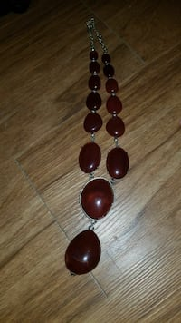 silver-colored necklace with brown gemstone Merrifield