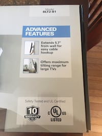 Sanus Tv mount brand new never used, still in box, this is great but we won't be mounting the tv any more.  Alexandria, 22306