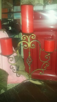 Old candle holder with candles