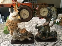 Eagle and elephant themed table clocks Kitchener, N2E 2C1