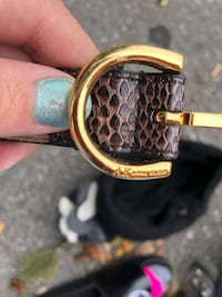 black and brown Gucci belt TORONTO