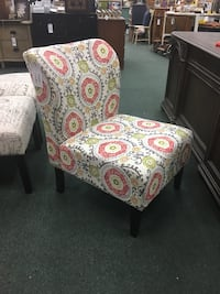 Floral Print Wingback Slipper Chair  Heath, 43056