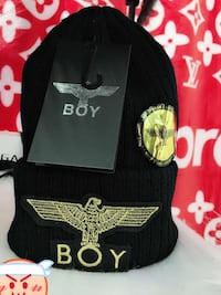 black and yellow Boy knitted cap 纽约市, 11354
