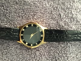 Ladies Black Wittnauer Leather Strap Analog watch