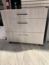 "36"" Modern single sink bathroom vanity cabinet in gray top separate  Fairfax, 22031"