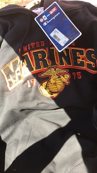 USMC sweatshirt. Brand new. Paid 50.00. Adult medium. Never worn. Tags still on.  Cary, 27519