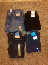 Boy.. Size 4, 7, and 10-H Blue And Black Denim ??