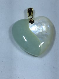 Green Jade and Mother of Pearl Heart Pendant Beaverton, 97005