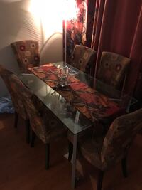 Glass Top Table with Six Pier 1 Chairs plus Matching Sofa Chair  Phoenix, 85006