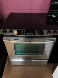 Whirlpool stainless steel electric slide in stove  47 km