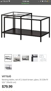 IKEA  nesting coffee table  Whitby, L1M 2M7