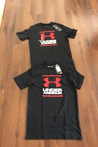 2 Brand New men's small under armour black t-shirts Edmonton, T6L 6X6