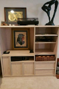 brown wooden TV hutch with flat screen television Montclair, 22025