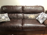 Brown leather couches Aspen Hill