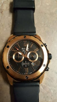 BULOVA black  strap gold round chronograph watch Alexandria, 22304