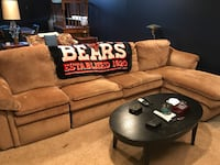 Gold sectional couch