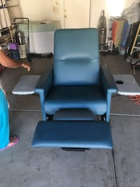 blue leather padded sofa chair Fresno, 93722