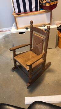 brown wooden framed brown padded armchair Olney, 20832