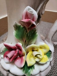 pink, green, and yellow ceramic roses embossed pitcher Baltimore, 21217
