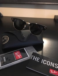 Authentic RayBan Clubmasters 3016 Black/Gold Brand New In Case  Toronto, M6M 2R5