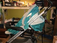 Peg perego stroller with area to stand on back  Dollard-des-Ormeaux, H9B 1R7