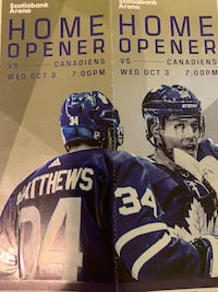 Leafs Home Opener Great Tickets Centre Ice! Toronto, M6R 2C2