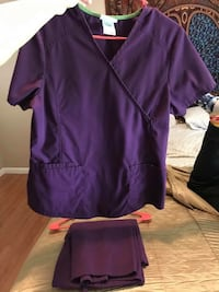 purple scrub suit SIZE S