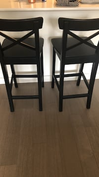 two black wooden bar stools New York, 11211