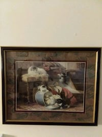 cat picture with metal frame glass Minot, 58701