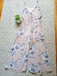 Light pink and blue floral silky jumpsuit  Salinas, 93901
