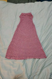 Pink and white sleeveless dress Toronto, M6M 2M3